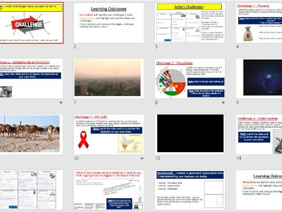 Place Study - Challenges in India (Lessons and resources).