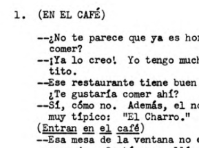 "Spanish 1,2 - Dialogue - Spanish/English bilingual- ""In the Restaurant/Cafe"""