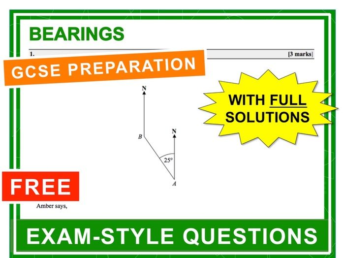 GCSE 9-1 Exam Question Practice (Bearings)