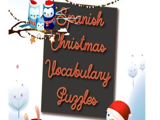 Spanish Christmas Vocabulary Puzzles
