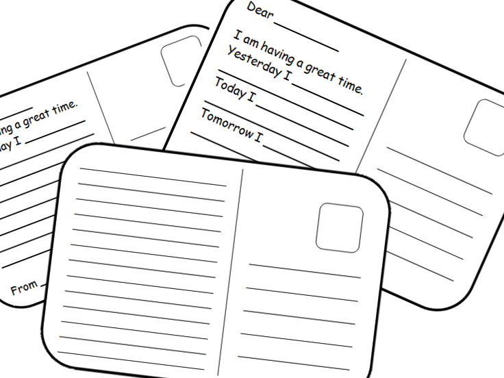 Differentiated Postcard template