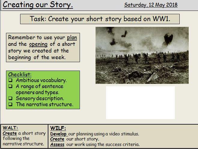 WW1 Narrative Writing Bundle