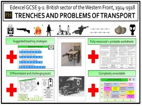 British sector of the Western Front - Trenches and the problems of transport