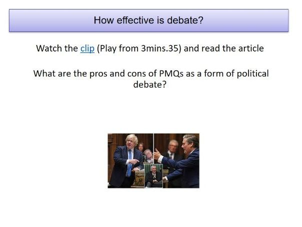 A Level Politics- Functions of Parliament Pt 2- Debate and Scrutiny