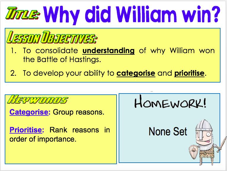 Why did William win?
