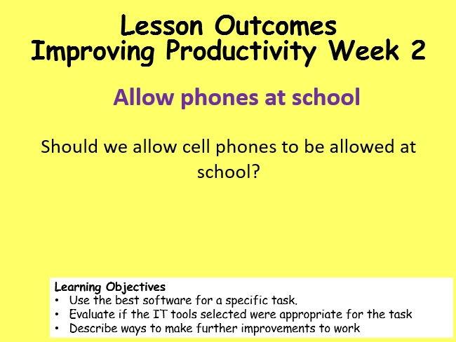 ECDL Productivity Week 2 - 3