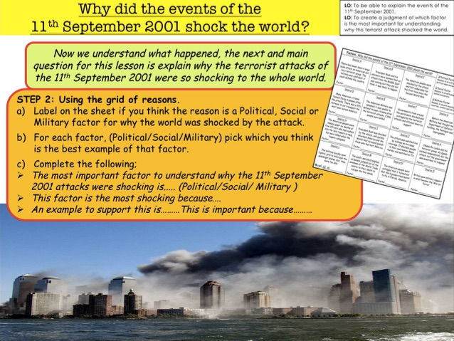 War on Terror Why did the events of the 11th September 2001 shock the world?