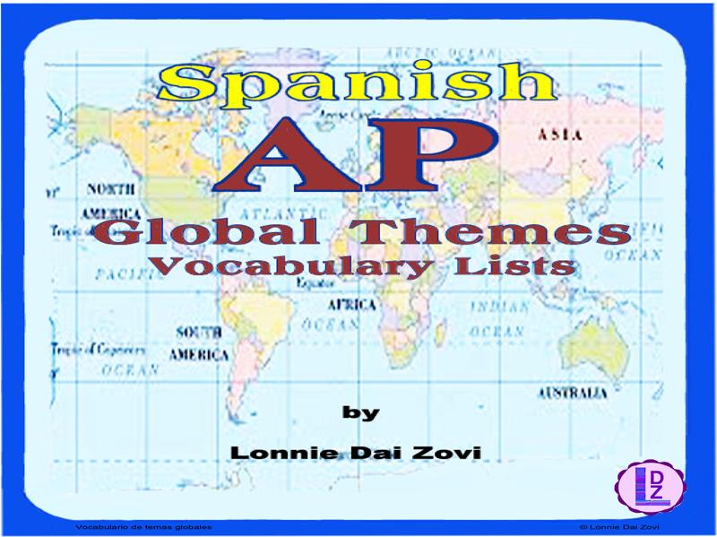 SPANISH AP GLOBAL THEMES VOCABULARY Lists