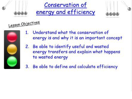 P1.2 & 1.7 Conservation of energy and efficiency