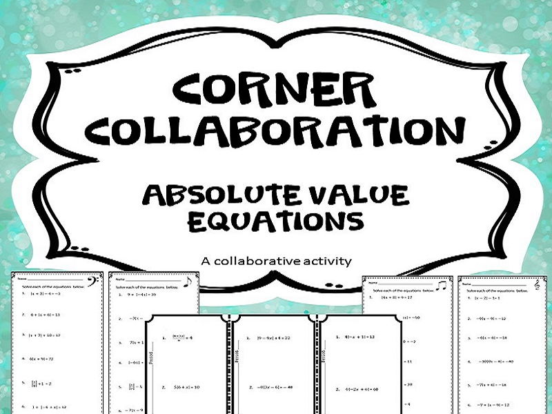 Corner Collaboration Absolute Value Equations