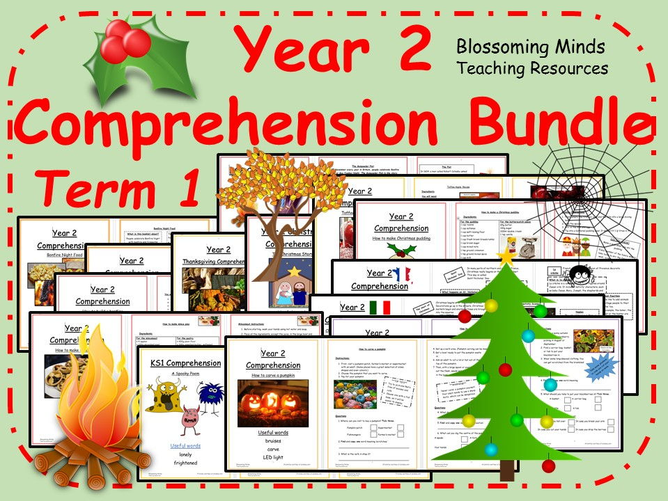 Year 2  Comprehension Mega Bundle - Term 1 (Autumn and Christmas)