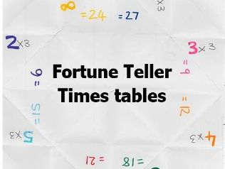 Maths timetables activity