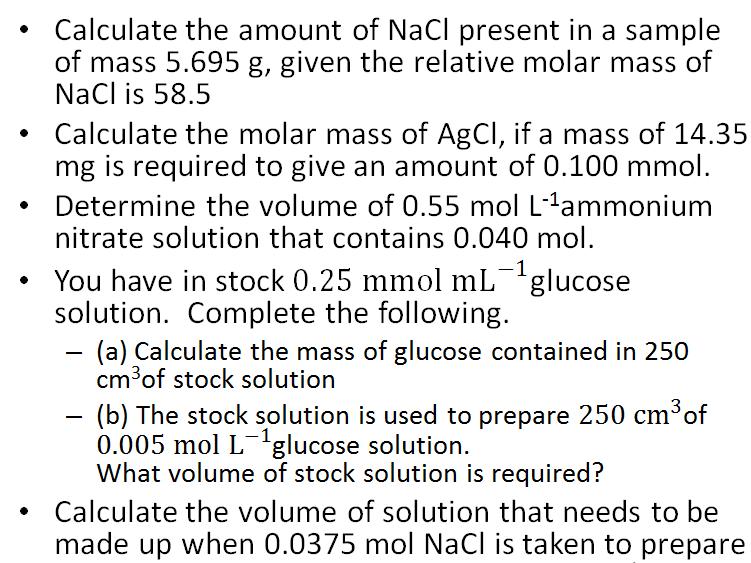 Scientific calculations