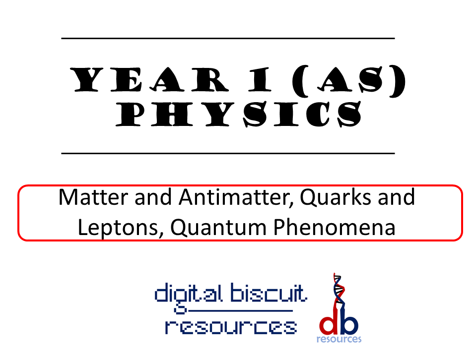 New AQA (2016) Year 1 Physics (AS) - Matter and Radiation, Quarks and Leptons and Quantum Phenomena