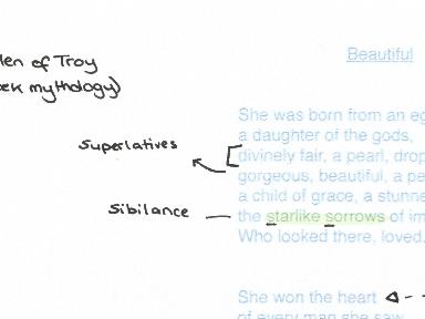 Feminine Gospels, Duffy: Beautiful, poem analysis