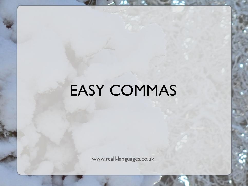 Commas for Lists: Lesson Plan