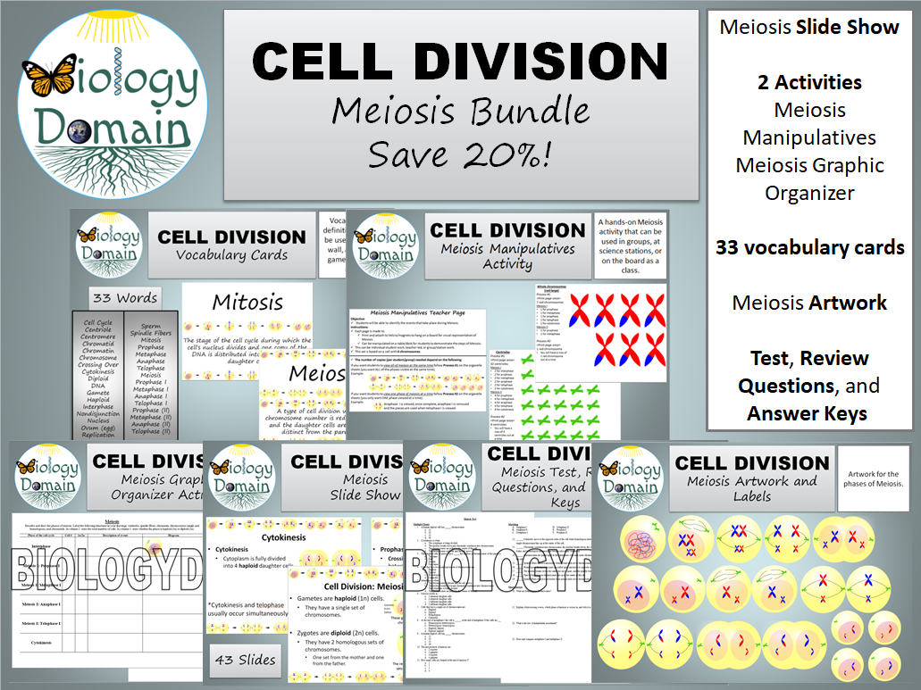 Cell Division: Meiosis Bundle Save 20%!