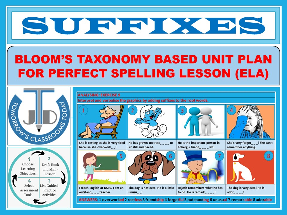 SUFFIXES: UNIT LESSON PLAN AND RESOURCES