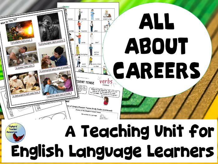 All About Careers Unit for ESL English Language Learners