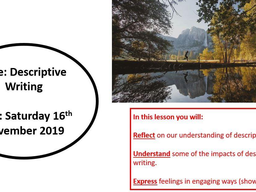 Descriptive Writing Cover Lesson