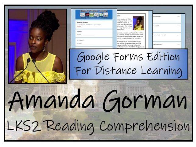 LKS2 Amanda Gorman Reading Comprehension & Distance Learning Activity