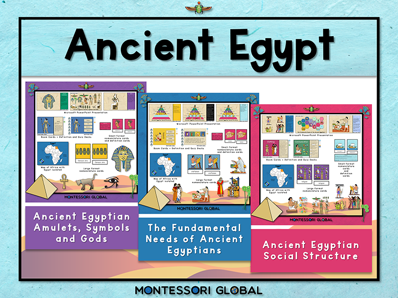 Ancient Egypt | 3 Part Cards | Boom Cards™ | PowerPoint Presentations