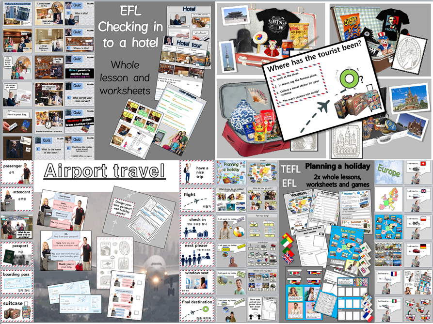 EFL/TEFL: Holiday Travel and Transport Lessons, activities and worksheets