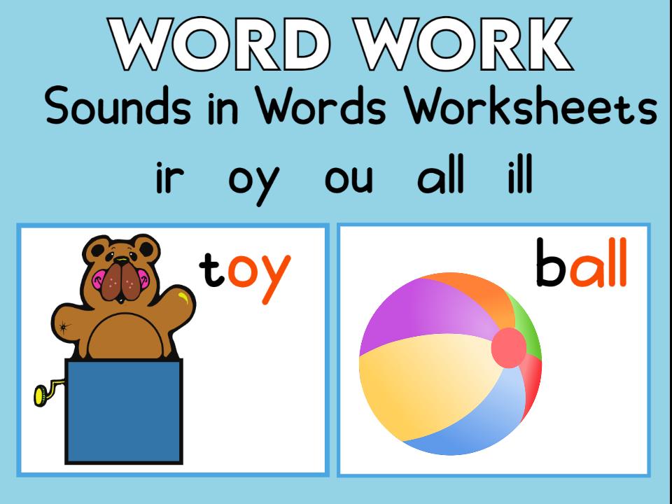 5 Sounds in Words Worksheets KS1