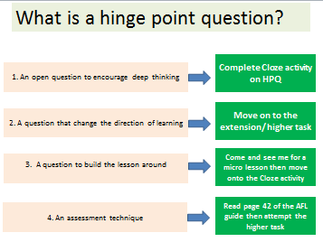 Hinge Point Questions (HPQ)