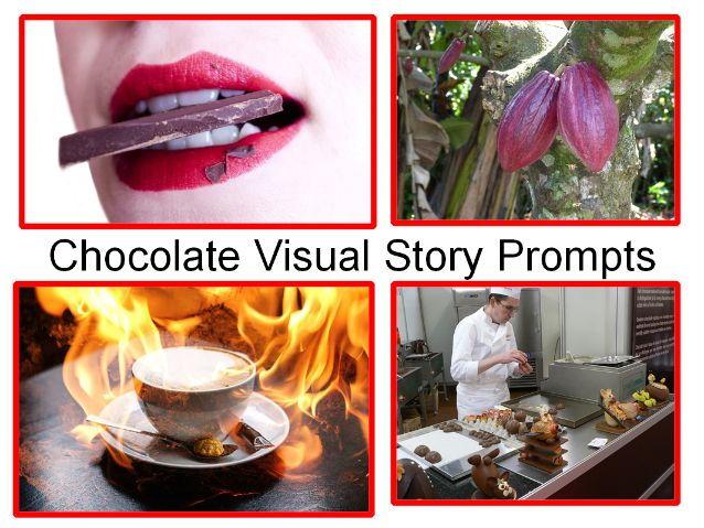 Chocolate Presentation + Chocolate Visual Story Prompts + Chocolate Quiz + 31 Class Activities