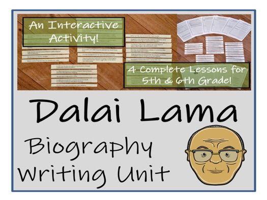 UKS2 Literacy - Dalai Lama Biography Writing Unit
