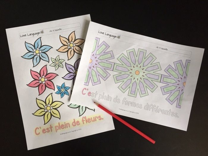 Art and French: colouring posters
