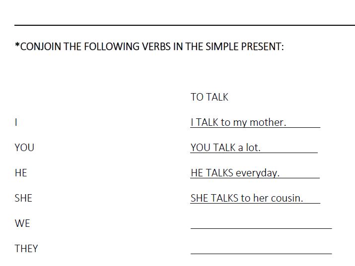 (Regular Simple Present) (LESSON 9)
