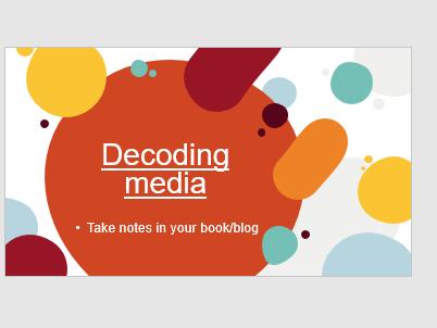 BTEC Creative Media Unit 1: Decoding media - looking at Halls Reception theory