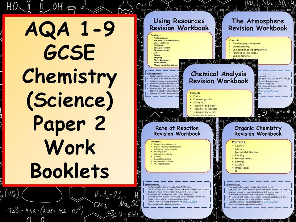 AQA 1-9 GCSE Chemistry (Science) Paper 2 Work Booklets Bundle