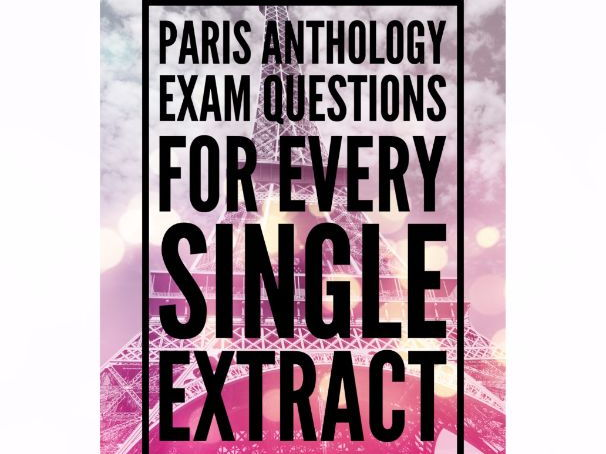 AQA Paris Anthology Exam Questions