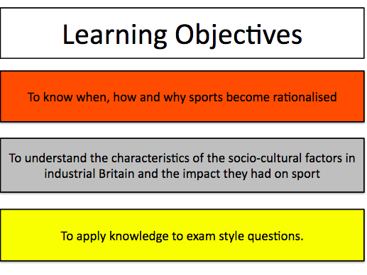 Sport & Society - Industrial & Post-Industrial Development of Sport - A Level PE (AQA) - #7581