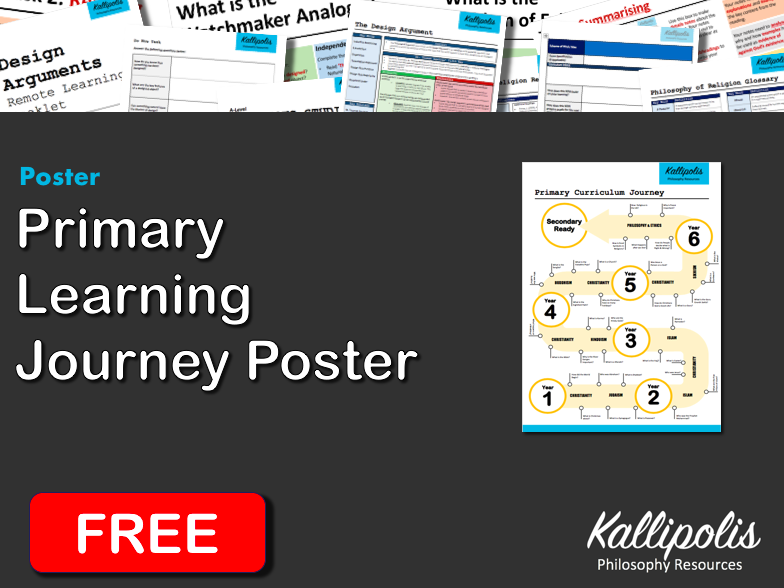 FREE Primary (KS1 & KS2) Religious Studies Learning Journey Poster