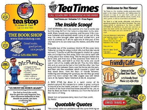 Newspaper templates for word photoshop illustrator indd small town newspaper template pronofoot35fo Choice Image