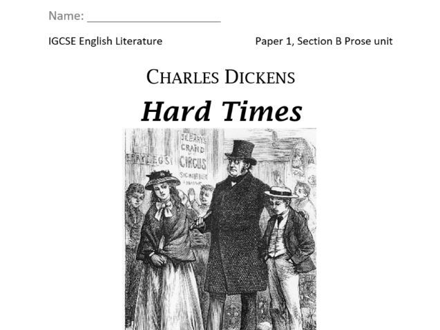 Hard Times work-through booklet for CIE IGCSE English Literature