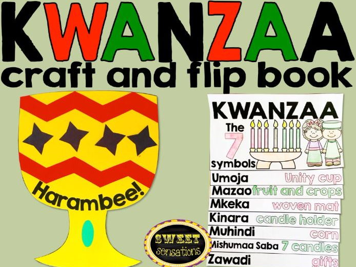 Kwanzaa Celebration craft and flip book