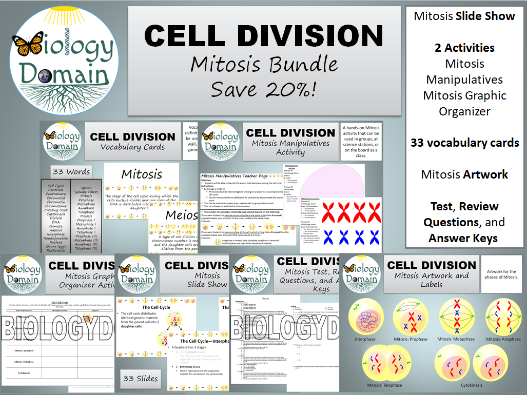 Cell Division: Mitosis Bundle Save 20%!