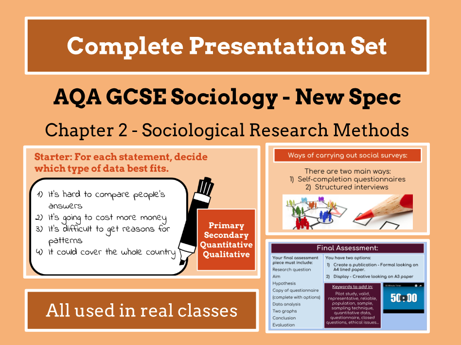 AQA GCSE SOCIOLOGY NEW SPECIFICATION - Unit 2 - Sociological Research Methods