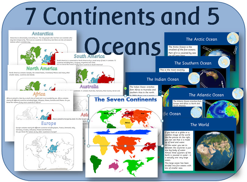 Continents and Oceans KS1 Lesson plan  Activities by