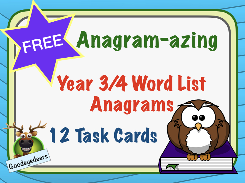Spelling Cards - Years 3/4 Word List