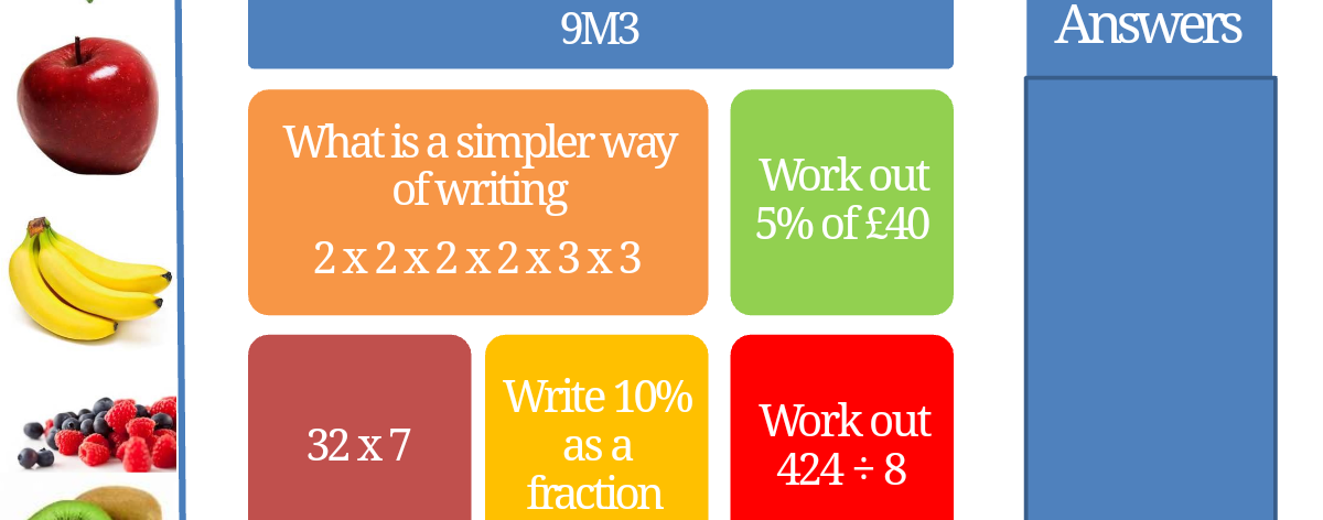 Number bundle! (Fractions, indices, HCF, LCM, decimals, probability, ratio, surds)