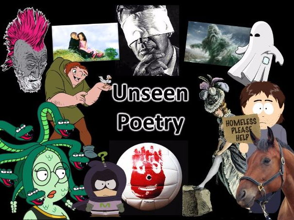 Unseen Poetry Scheme of Work for English Literature GCSE (2017)