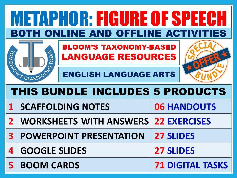 METAPHOR - FIGURATIVE LANGUAGE: BUNDLE