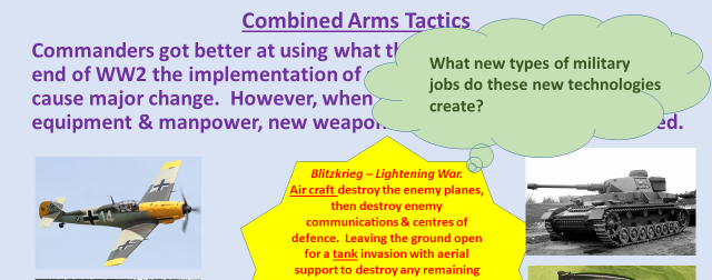 Changes in the technology of warfare 20th & 21st centuries