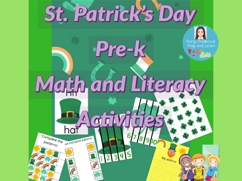 Math and Literacy St. Patrick's Day Activities